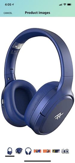 iFrogz AIRTIME VIBE Wireless On-Ear Headphones with Noise-Canceling - Blue Thumbnail