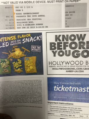 New and Used Tickets for Sale in Chino Hills, CA - OfferUp