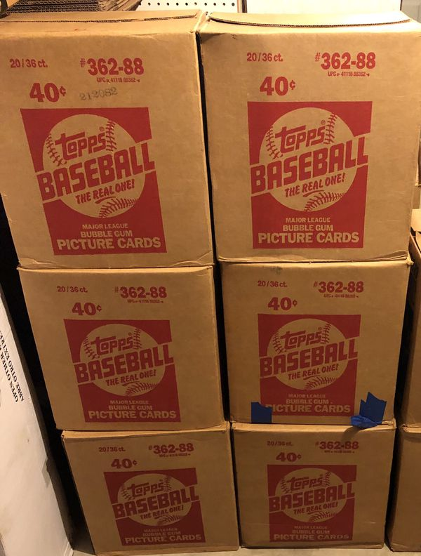 1988 Topps Unopened Baseball Card Packs For Sale In Rutland Ma Offerup