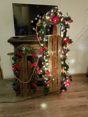 vintage sled christmas decoration for sale in oak forest il - Vintage Sled Christmas Decoration
