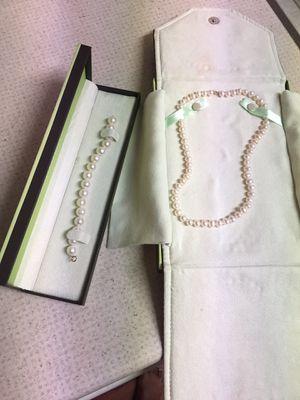 Ross Simons Pearls Bracelet and Necklace for Sale in Manassas, VA
