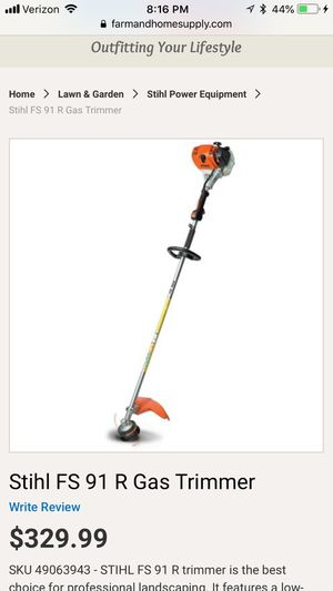 Stihl FS 91 T gas trimmer (weed whacker), retails for $330, you're for $200 with extras for Sale in Adelphi, MD