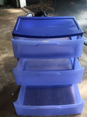 Three drawer storage container- sterilite for Sale in Columbia, MD