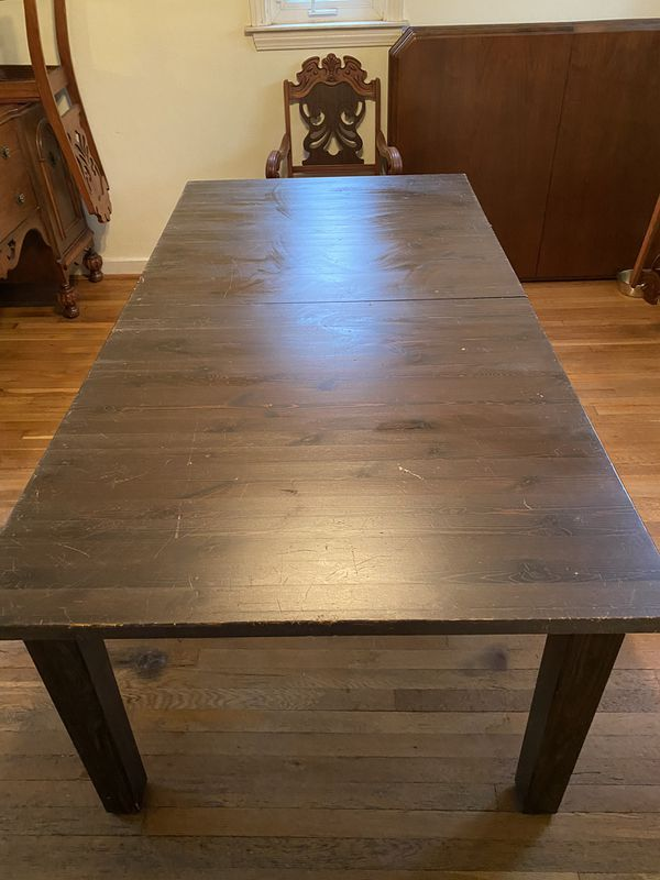 Pottery Barn Solid Wood Dining Table For Sale In Brentwood
