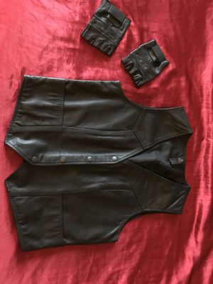 Ladies Motorcycle Vest & Gloves for Sale in Atlanta, GA