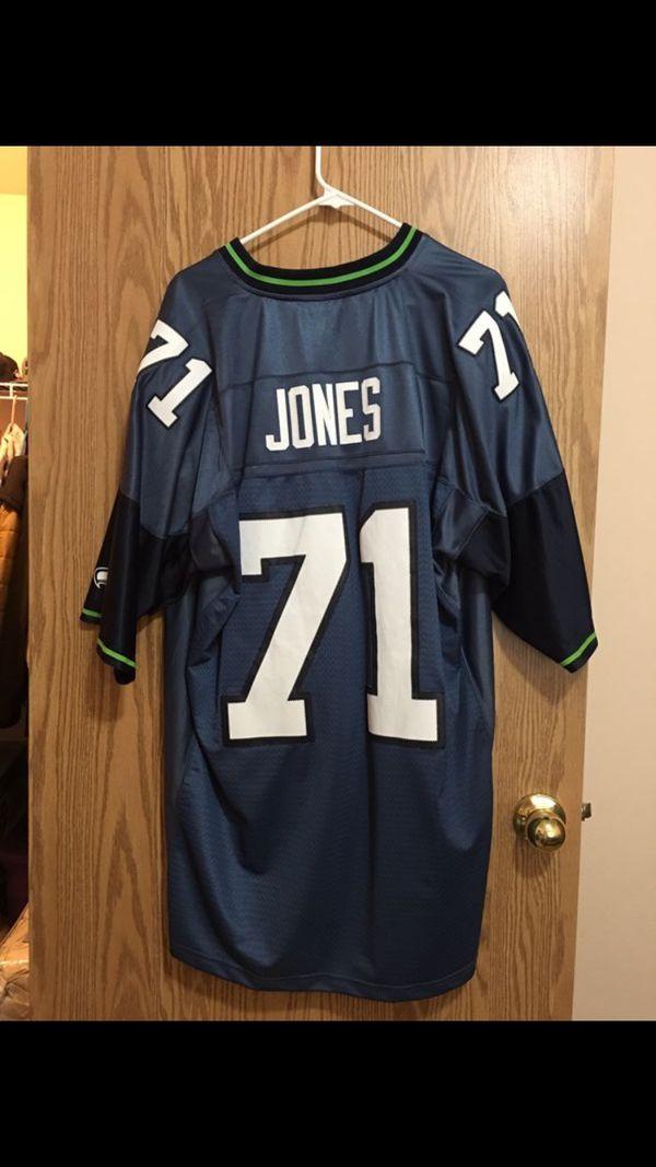 big sale 53435 7345e Walter Jones Seattle Seahawks NFL Throwback Jersey! for Sale in Kent, WA -  OfferUp