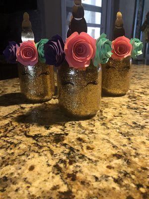 Small mason jar centerpieces for Sale in San Bernardino, CA