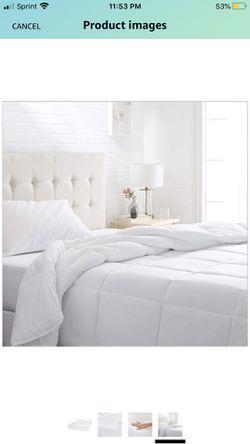 AmazonBasics Conscious Series Down-Alternative Comforter Full or Queen Thumbnail