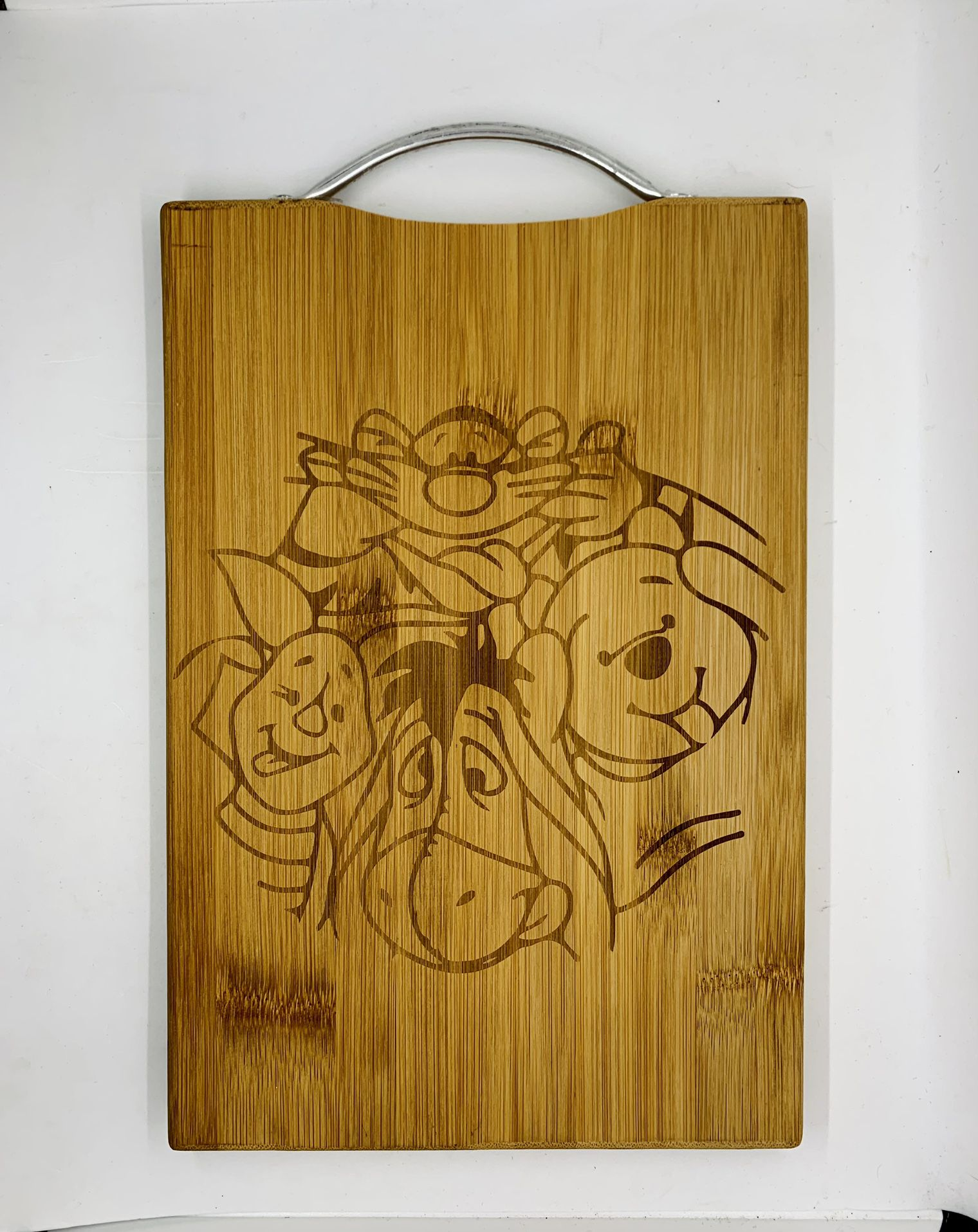 Winnie the pooh laser engraved bamboo high quality cuttingboard pop gift