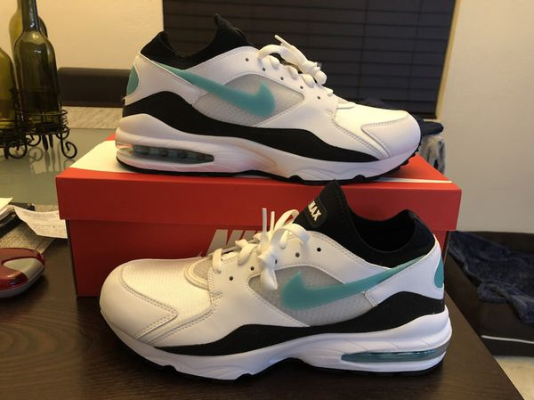 ae77eaa7ae50 Men s 2018 Nike Air Max 93 Dusty Cactus Menthol 306551-107 White Sport  Turquoise Black Size 12 Shoes NEW w  Box