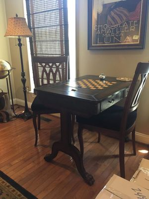 Leather Game Table for Sale in Fairfax, VA