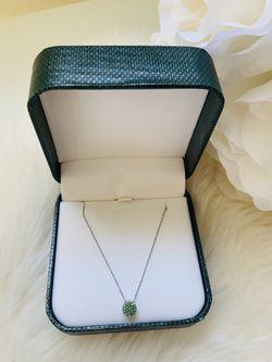 Necklace for Women Light Green Emerald Thumbnail