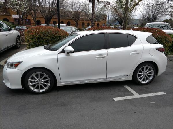 White 2013 Lexus Ct200 Hybrid 45mpg Leather For Sale In San Jose Ca