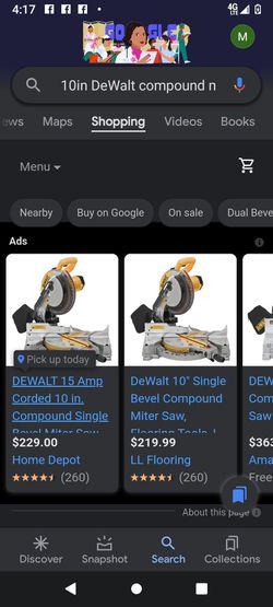 DeWalt Compound Miter Saw Thumbnail