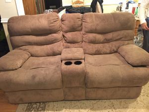 Recliner love seat, solid and good condition for Sale in Alexandria, VA