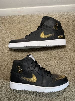 Air Jordan 1 OVO Customs Nike sz 10 for Sale in North Chesterfield, VA