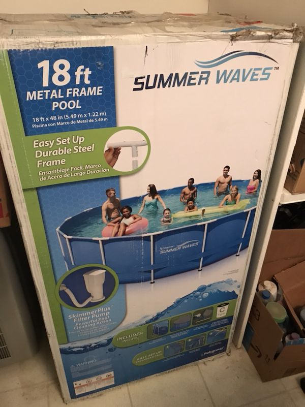 """New 18\' x 48"""" above ground pool (Sports & Outdoors) in Tempe, AZ ..."""