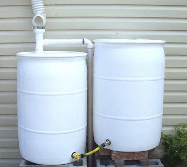55 gallon no spigots plastic poly drum drums barrel barrels rain