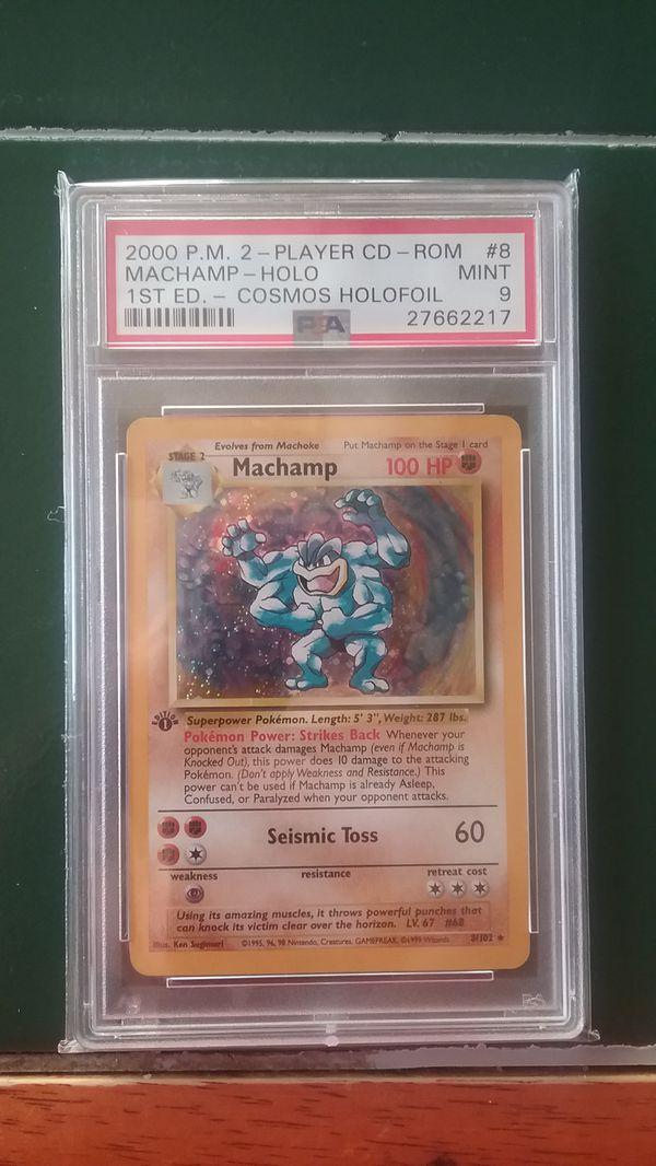 Pokemon Card - Holographic 1st Edition Machamp PSA 9 HOLO