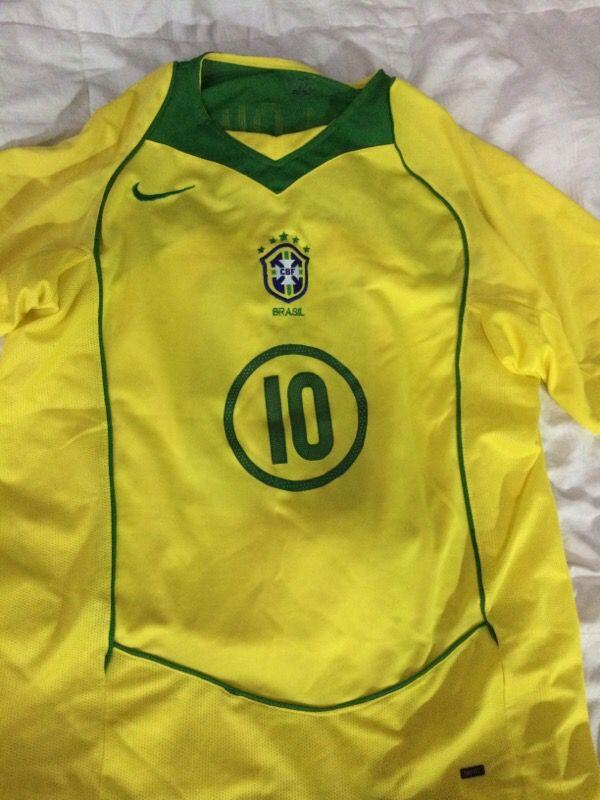 c86603dd945 Brazil Nike total 90 Jersey  10 Ronaldinho for Sale in Pembroke Pines