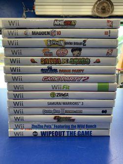 Nintendo Wii Game Bundle  W/15 Games Thumbnail