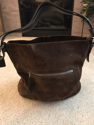 Coach Chocolate Suede Bag for Sale in Renton, WA