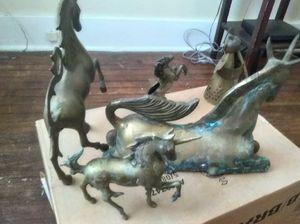 Small brass unicorn standing for Sale in Detroit, MI