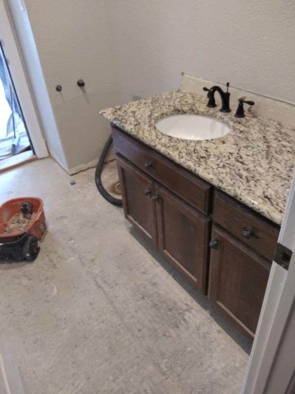 Granite vanity with back splash guard for Sale in San ...