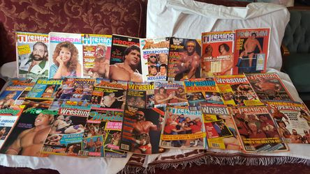 Wrestling WWF wrestling magazines dating as far back as 1985 up to up to 71 books Thumbnail