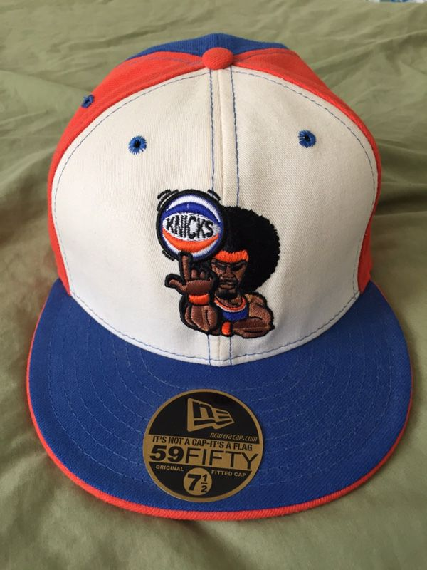 faf73a18999 New York Knicks NBA New Era 5950 Fitted Baseball Cap RARE Size 7.5 ...