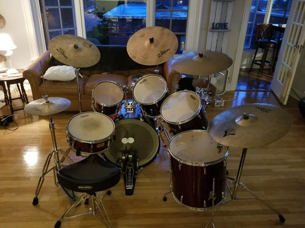 6 piece pearl drum set for sale in tacoma wa offerup. Black Bedroom Furniture Sets. Home Design Ideas