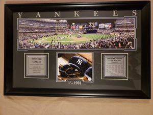 Framed picture of Yankees celebrating after winning 27th World Series for Sale in Harpers Ferry, WV