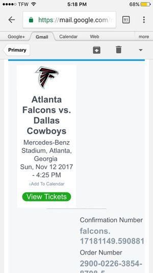 Falcons Cowboy tickets cheap for Sale in Atlanta, GA