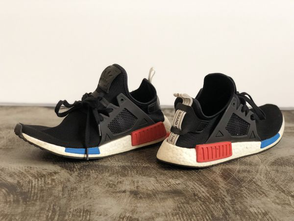 best service ca8ed dcc33 Adidas NMD R1 Black | Red | Blue for Sale in Salinas, CA - OfferUp