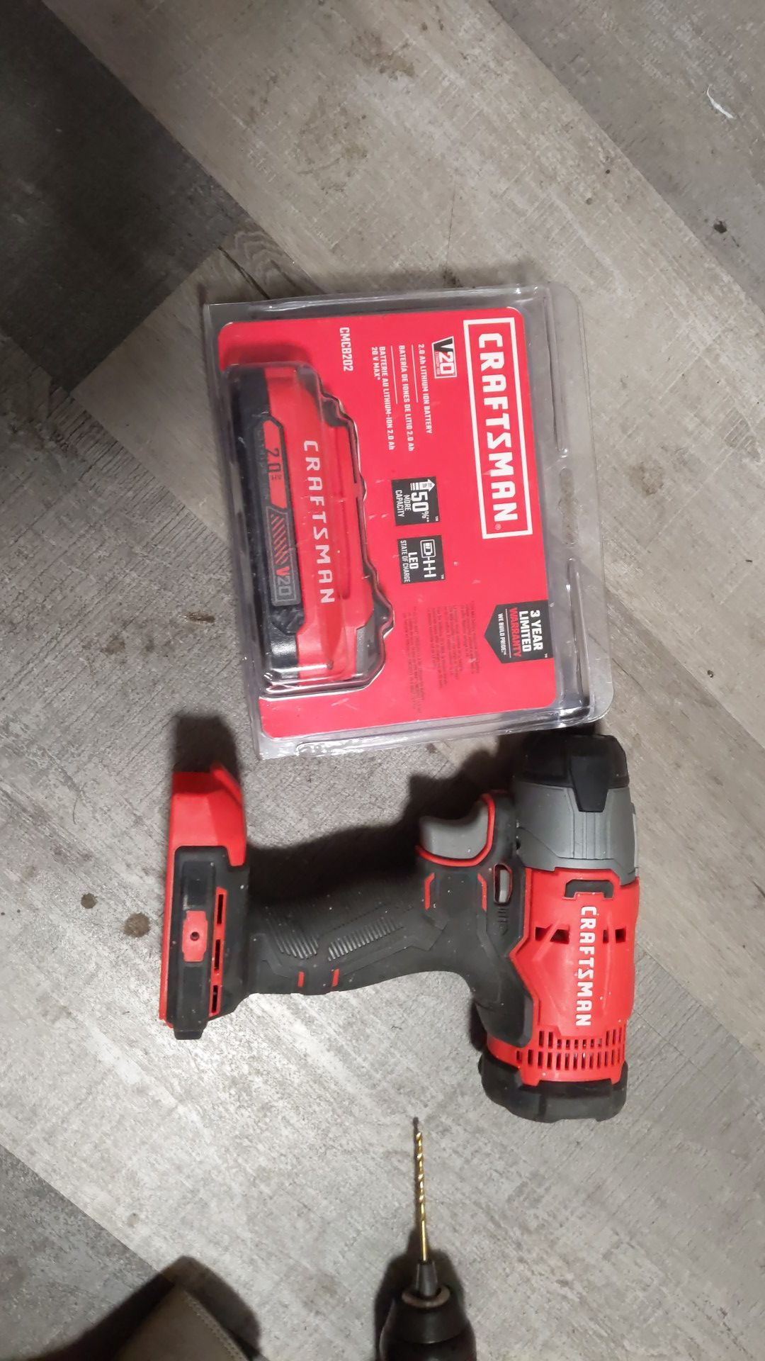 Craftsman impact driver like new with new battery