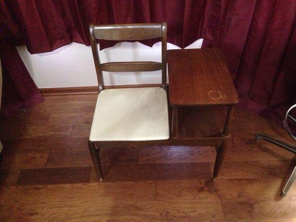 Vintage telephone desk or gossip chair (Antiques) in Bellevue, NE - OfferUp - Vintage Telephone Desk Or Gossip Chair (Antiques) In Bellevue, NE