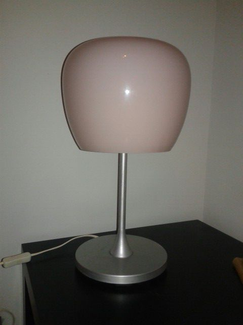 Modern lamp with pink glass shade furniture in dallas tx offerup aloadofball Gallery