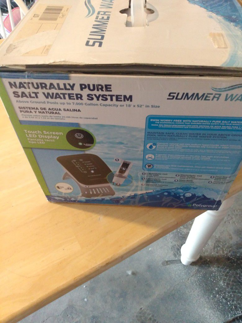 Naturally pure Salt Water System Summer waves