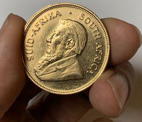 1974 Krugerrand 1Oz Fine Gold Coin Thumbnail
