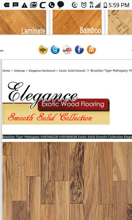 Elegant Exotic Brazilian Tiger Gany Flooring Home Garden In Claremont Ca Offerup