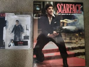 *RARE SCARFACE 'THE PLAYER' COLLECTABLE ACTION FIGURE W/ WOODEN MOVIE PORTRAIT* for Sale in Tallahassee, FL