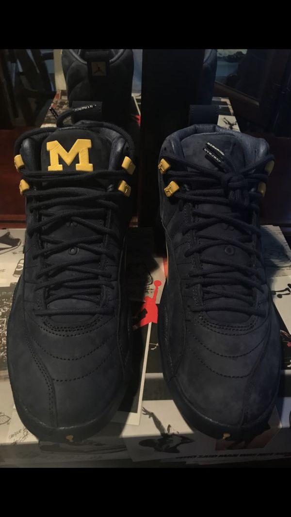 """new style 7f2e5 a0b4d Jordan 12 Retro """"Michigan"""" SIZE 8 for Sale in Detroit, MI - OfferUp"""