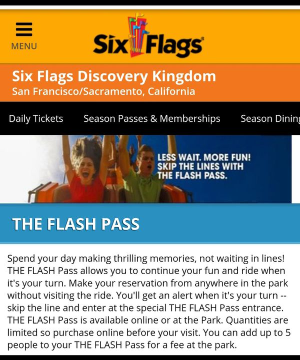 SIX FLAGS MAGIC MOUNTAIN ⛰🎟🎟🎟🎟$50 for Sale in Lynwood, CA - OfferUp