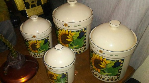 Vintage sunflower canister set household in sand springs ok offerup mightylinksfo