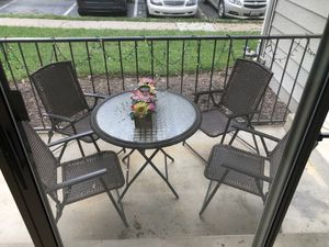 Brand new Foldable Patio furniture and plant pot. Barely used. for Sale in Germantown, MD