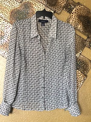 Sheer Black and White Blouse-Size 16 for Sale in Orlando, FL