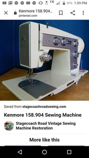 Photo Vintage Sears Kenmore sewing machine 158.904