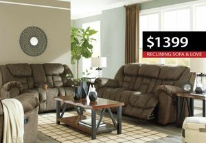 53 UPFRONT! Cape Earth reclining sofa andq loveseat set $1399 *Black Friday Sale!* for Sale in Lawrenceville, GA