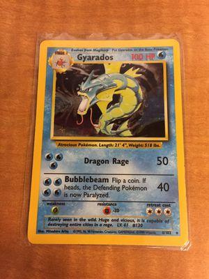 Photo First Generation Pokemon Hologram Gyarados Card, Vintage 1999