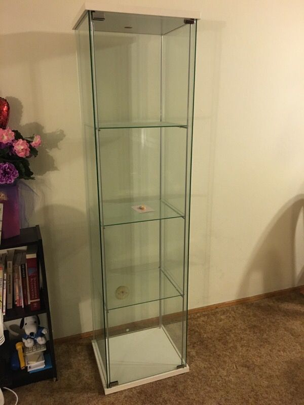 Ikea Detolf Glass Door Cabinet White Furniture In Pacifica Ca